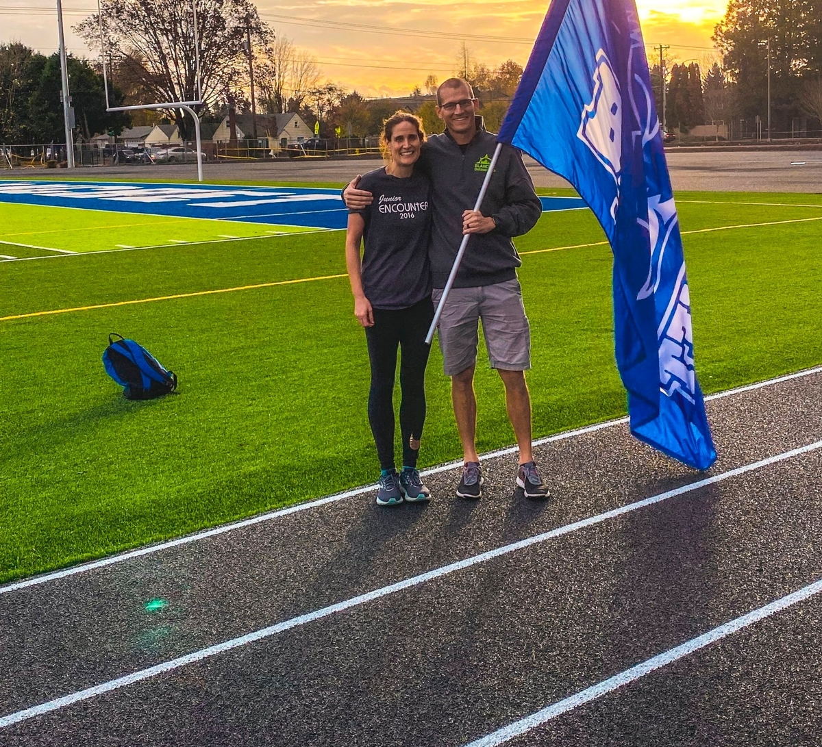 Track Coaches Take First Lap On New Track