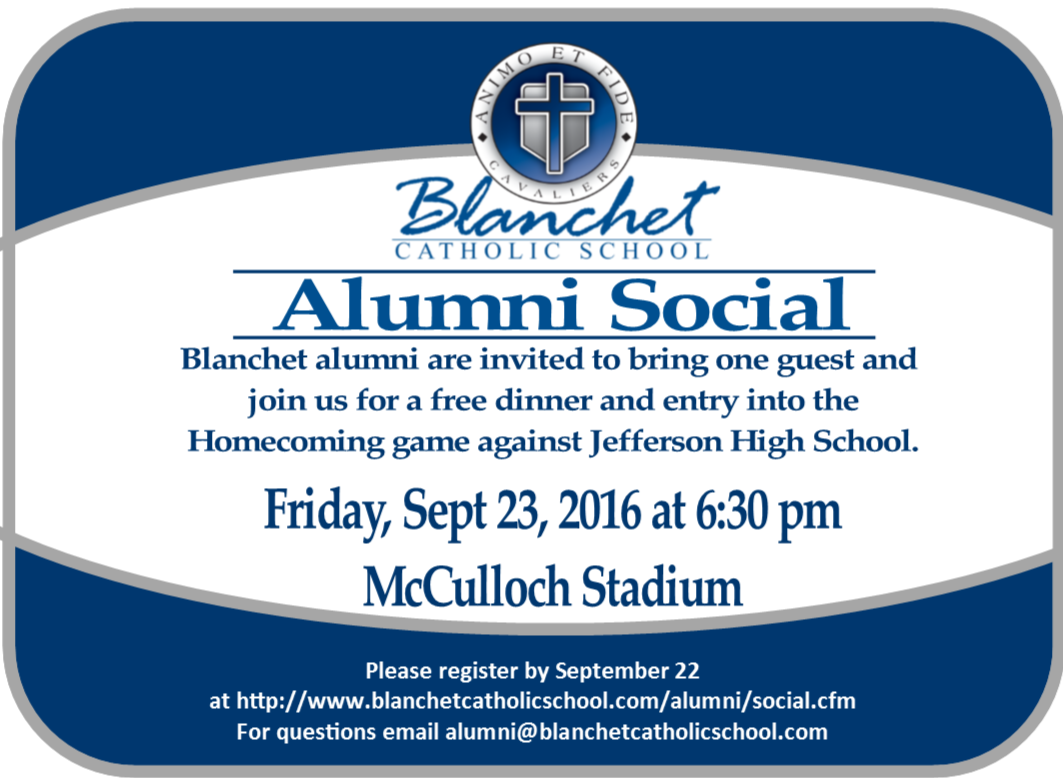 Click to register for the Alumni Social
